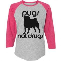 Pugs Not Drugs Long Sleeve