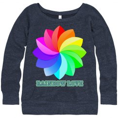 rainbow love sweatshirt