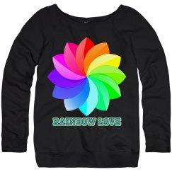 rainbow love sweatshirt