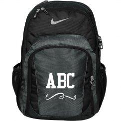 Custom Initials School Bookbag
