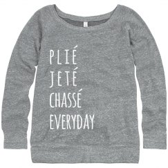 Stay on Pointe Dance Sweater
