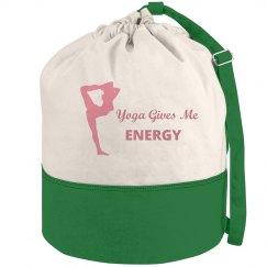 Yoga Girl Beach Bag