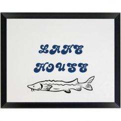LAKE HOUSE PLAQUE