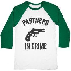 Partner on crime t shirt