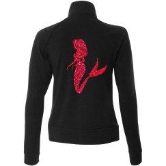 Mermaid forever! Red glitter zipper jacket