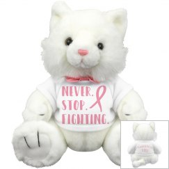 Never Stop Fighting Awareness Kitty