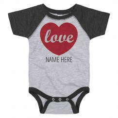 Custom Valentine's Love Onesie