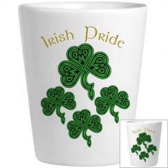 Irish Pride Shamrock Shot Glass