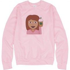 Coffee Emoji Girl Sweater