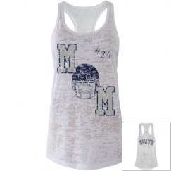 Football Mom Tank Bue