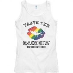 Color Run Taste The Rainbow White Tank Top