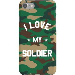 I Love My Soldier Dog Tag