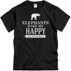 Elephants make me happy