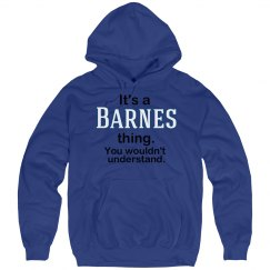 Its a Barnes thing