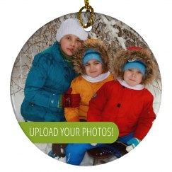 Custom Photo Family Gift Ornament