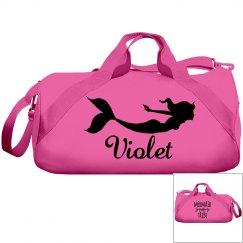Violets swimming bag