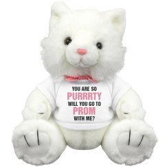 Funny Promposal Cat Pun Plush