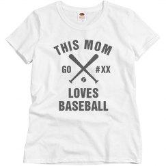 Baseball Mom Bling Tee Custom