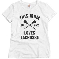 Custom Bling Mom Lacrosse Lover