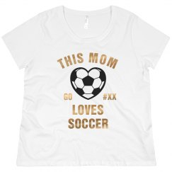 Bling Metallic Custom Soccer Mom