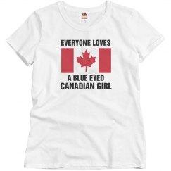 Blue Eyed Canadian Girl
