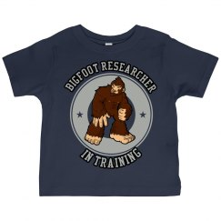 Toddler's Bigfoot Researcher In Training