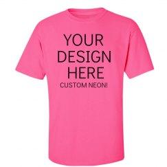 Custom Pink Neon V-Neck