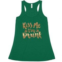 Gold Kiss Me Im Drunk St. Pats