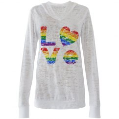 Distressed Gay Pride LOVE