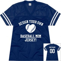 Custom Baseball Mom Jersey With Custom Name Number