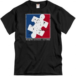 Distressed Major League AUTISM Shirt