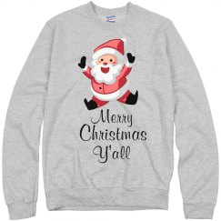 funny christmas Sweater merry christmas y'all