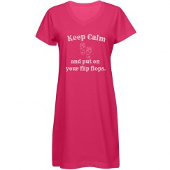 Keep Calm Cover Up - blue