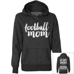 Glitter Football Mom Respect