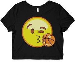 Emoji Basketball Crop Top