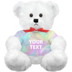 Custom Text Hologram Bear