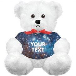 Custom Text Space Galaxy Bear