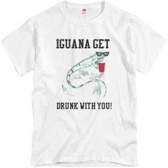 Unisex Drinking Iguana Shirt