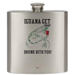 Drinking Iguana 6oz. Flask