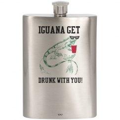 Drinking Iguana 8oz. Flask
