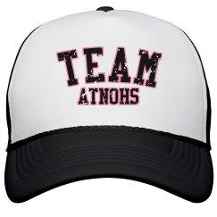 TEAM Atnohs Bball hat blk distressed
