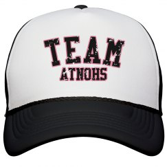 TEAM Atnohs Bball hat blk distressed