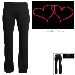 Yoga Pants Double Hearts
