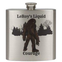 Customized Liquid Courage Bigfoot Flask