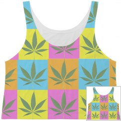 Multi Color Weed shirt