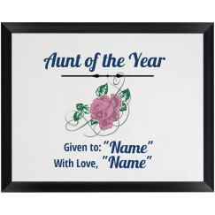 Aunt of the Year Plaque