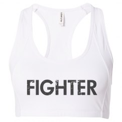 Fighter sports bra black