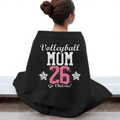 Custom Volleyball Mom Blanket