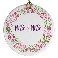 Floral Mrs Mrs Ornament