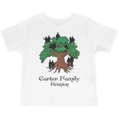Carter family reunion todder shirt